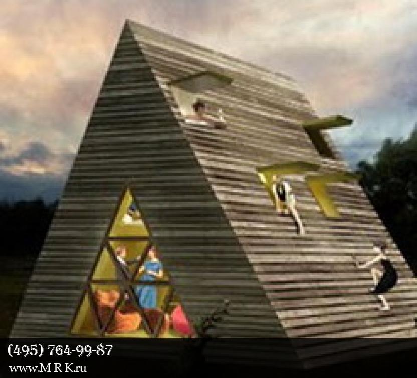 Треугольный дачный домик