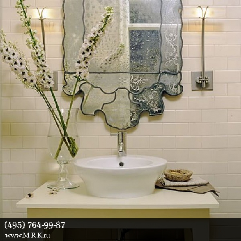 Освещение ванной комнаты.