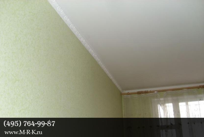 особенности примыкания к потолку
