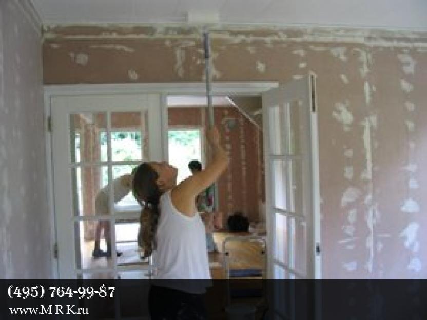 Покраска и побелка потолка.
