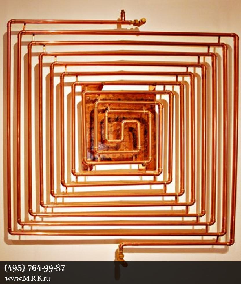 Прокладка труб отопления