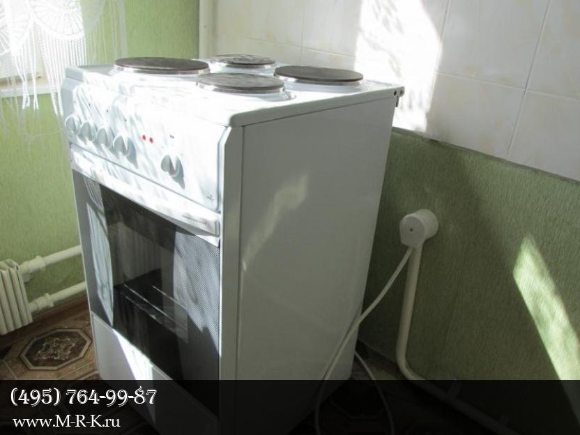 Установка плиты, электроплиты, подключение варочной панели.