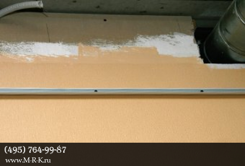 Установка подвесного потолка.