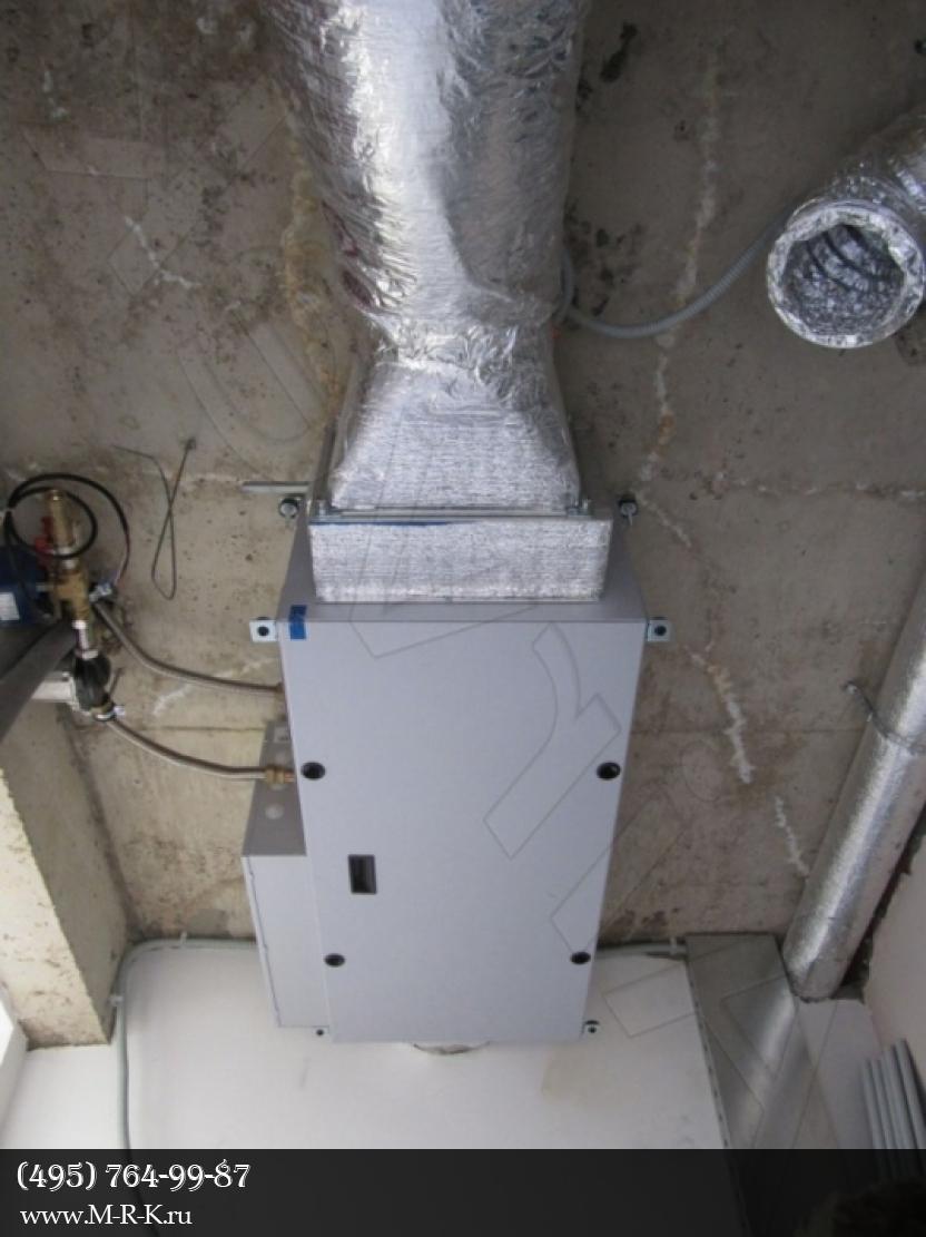Установка системы вентиляции.