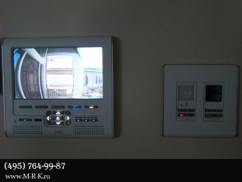 Установка видеодомофона.