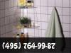 Навеска полок, зеркал, аксессуаров в ванной. фото