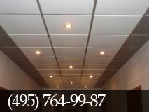 Установка подвесного потолка.  фото