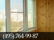 Отделка балконов деревянной евровагонкой. фото