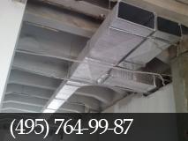 Установка системы вентиляции. фото