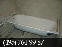 Установка ванны. фото